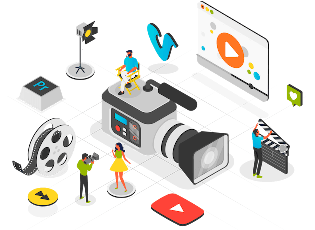 Video production company in Pakistan illustration